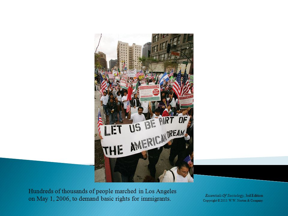 Hundreds of thousands of people marched in Los Angeles