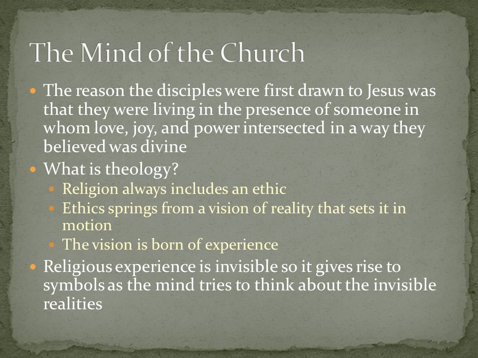 The Mind of the Church