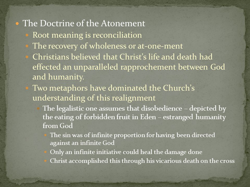 The Doctrine of the Atonement