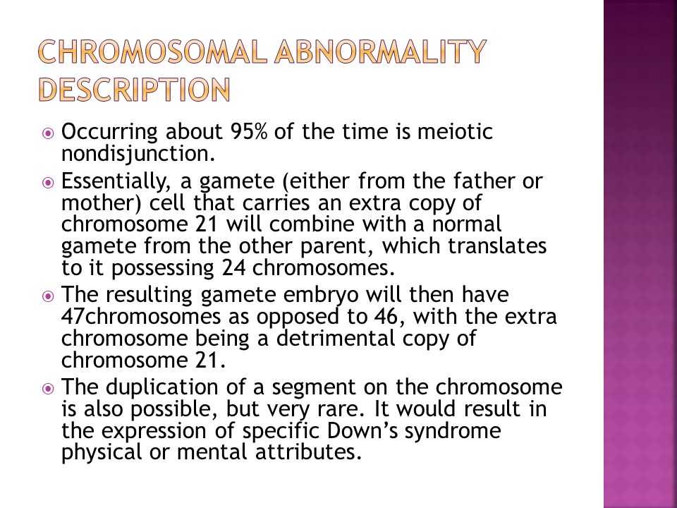 Chromosomal Abnormality Description