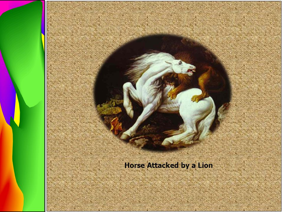 Horse Attacked by a Lion