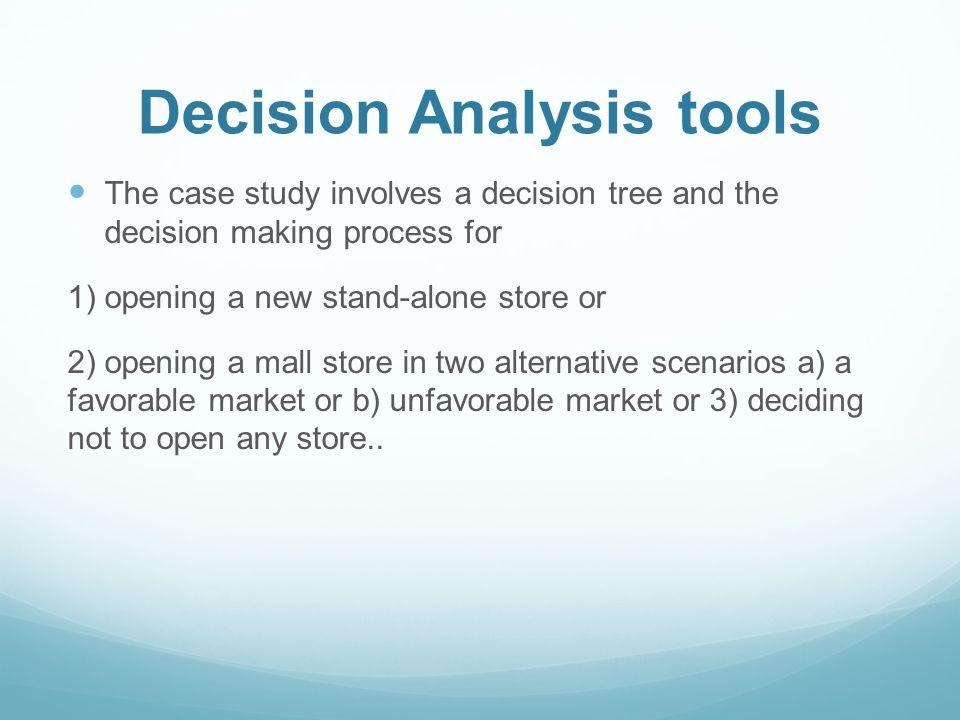 Decision Analysis tools