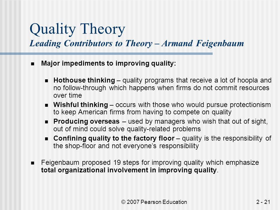 Quality Theory Leading Contributors to Theory – Armand Feigenbaum
