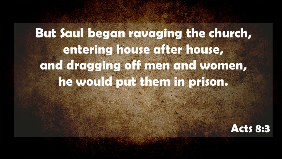 But Saul began ravaging the church, entering house after house,