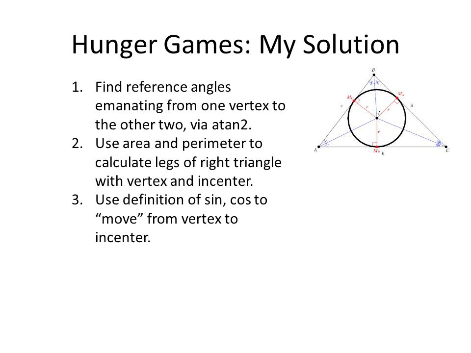 Hunger Games: My Solution