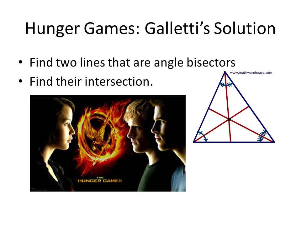 Hunger Games: Galletti's Solution