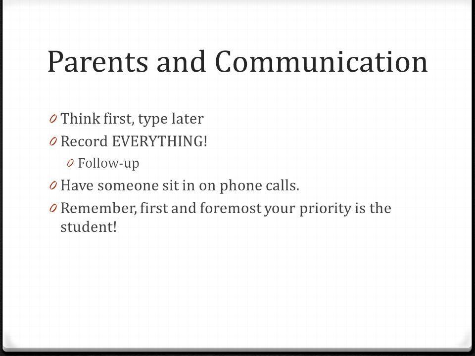 Parents and Communication