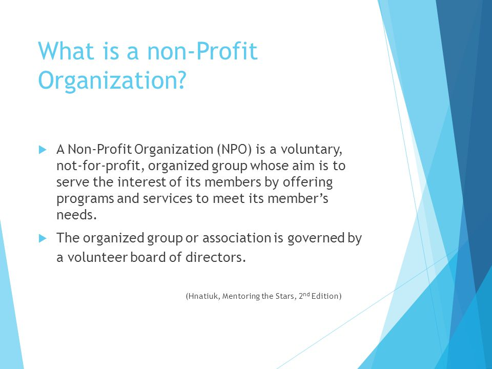 What is a non-Profit Organization