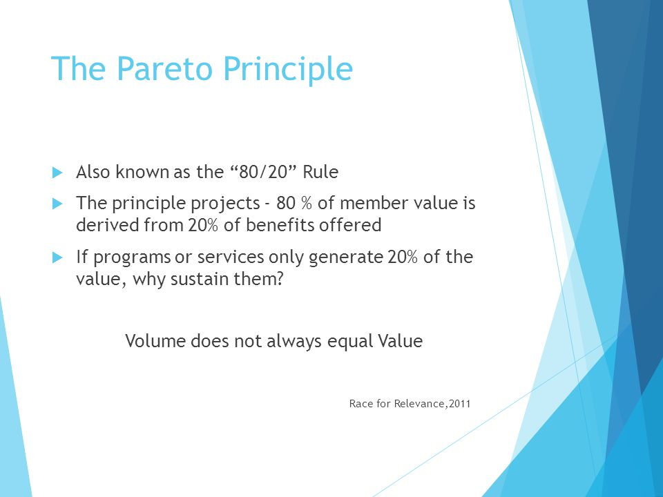 Volume does not always equal Value
