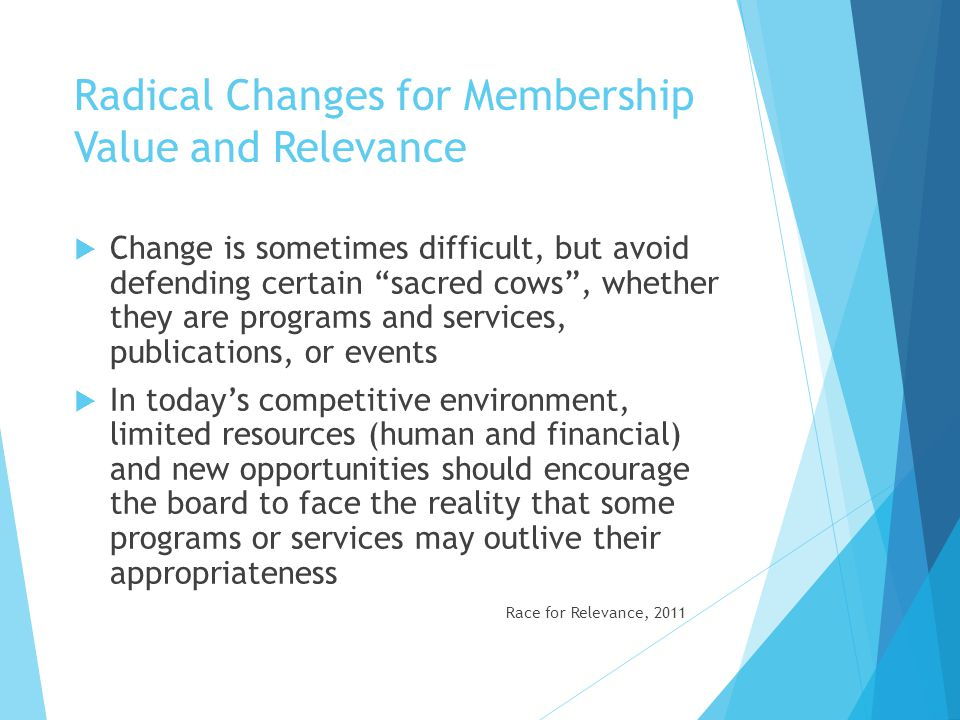 Radical Changes for Membership Value and Relevance