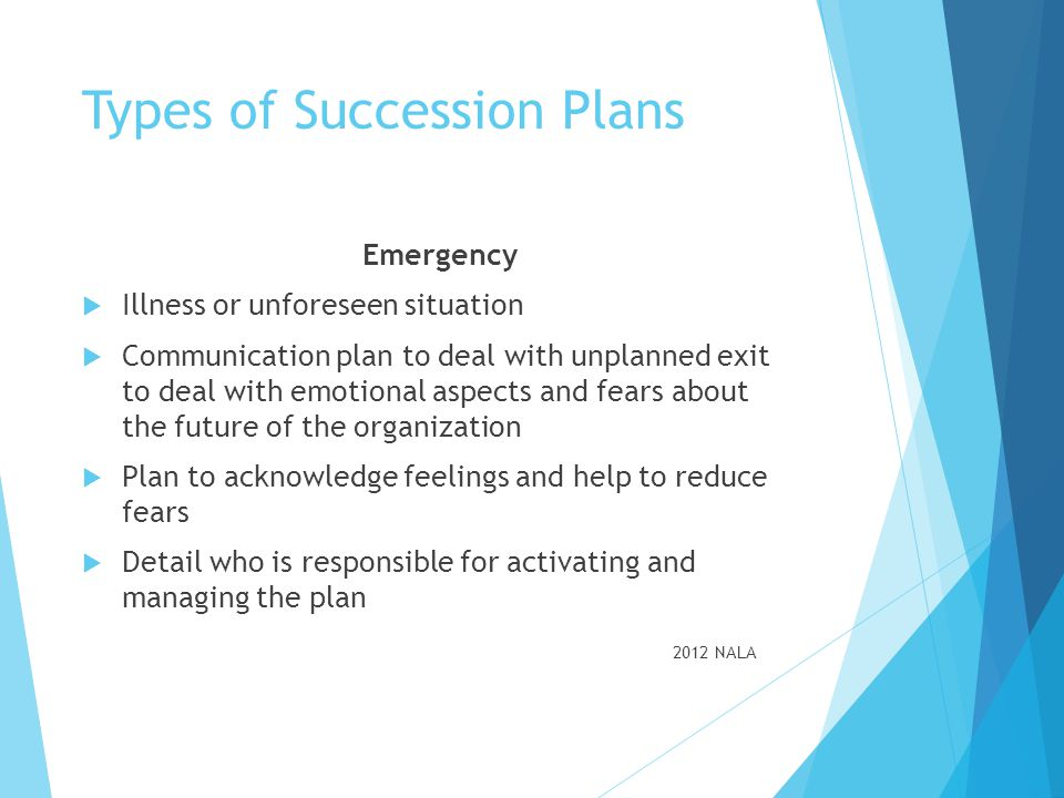 Types of Succession Plans