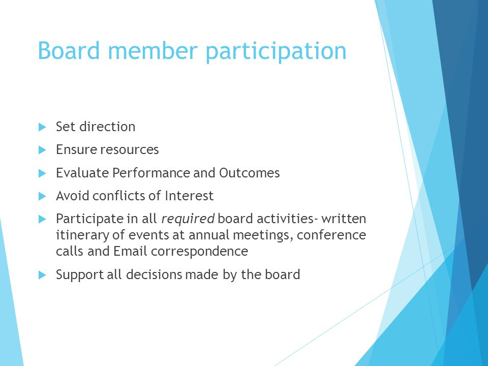 Board member participation