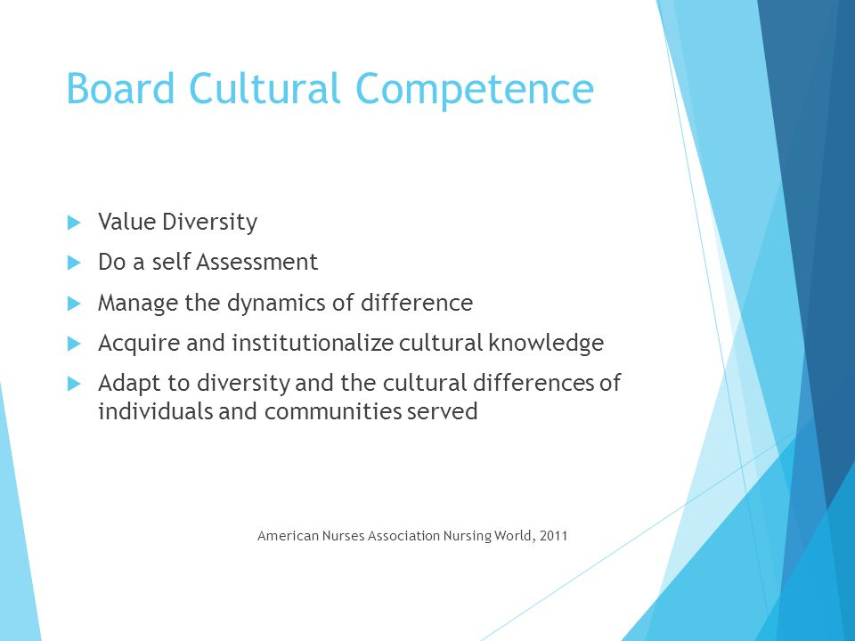 Board Cultural Competence
