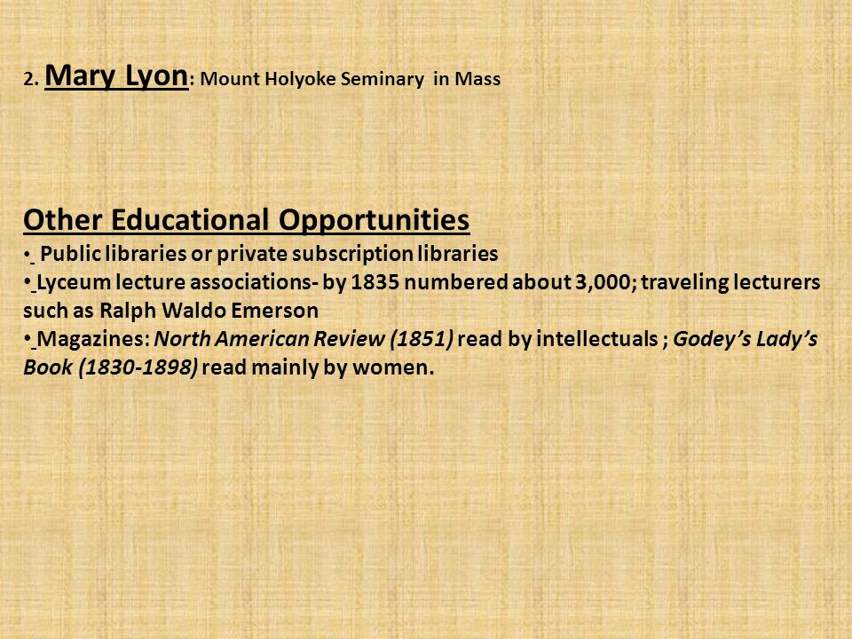 Other Educational Opportunities