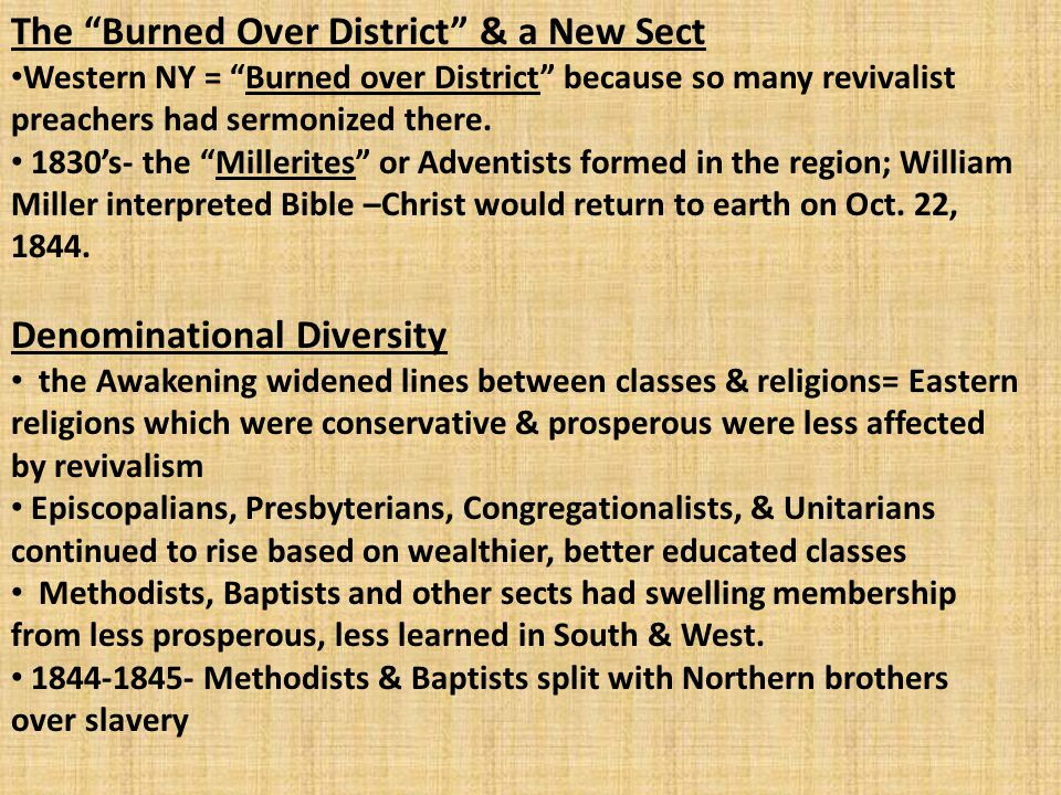 The Burned Over District & a New Sect