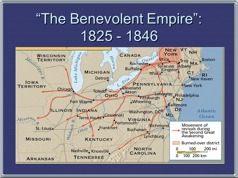 The Benevolent Empire : 1825 - 1846