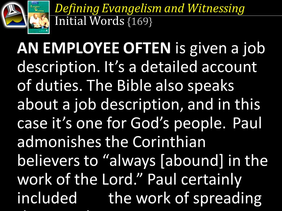 Defining Evangelism and Witnessing