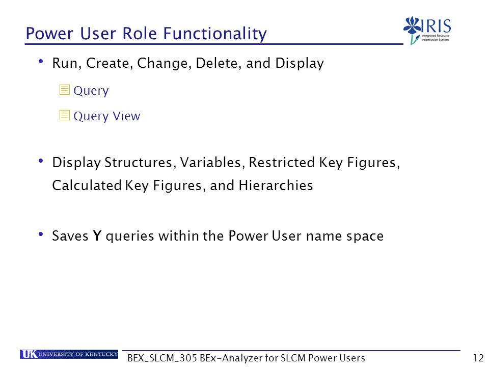 Power User Role Functionality