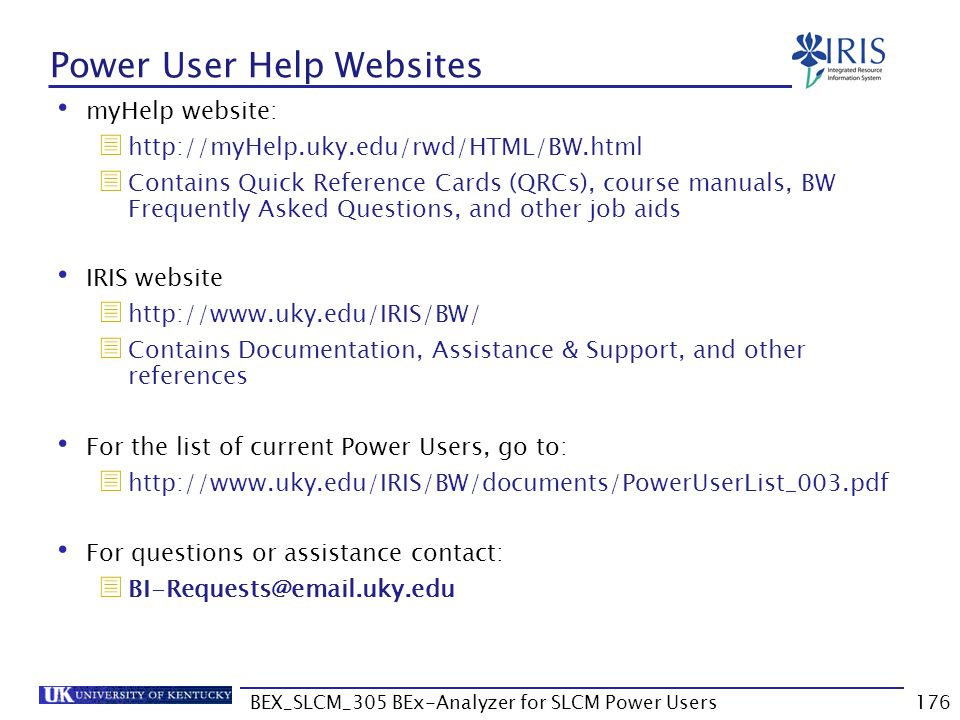 Power User Help Websites