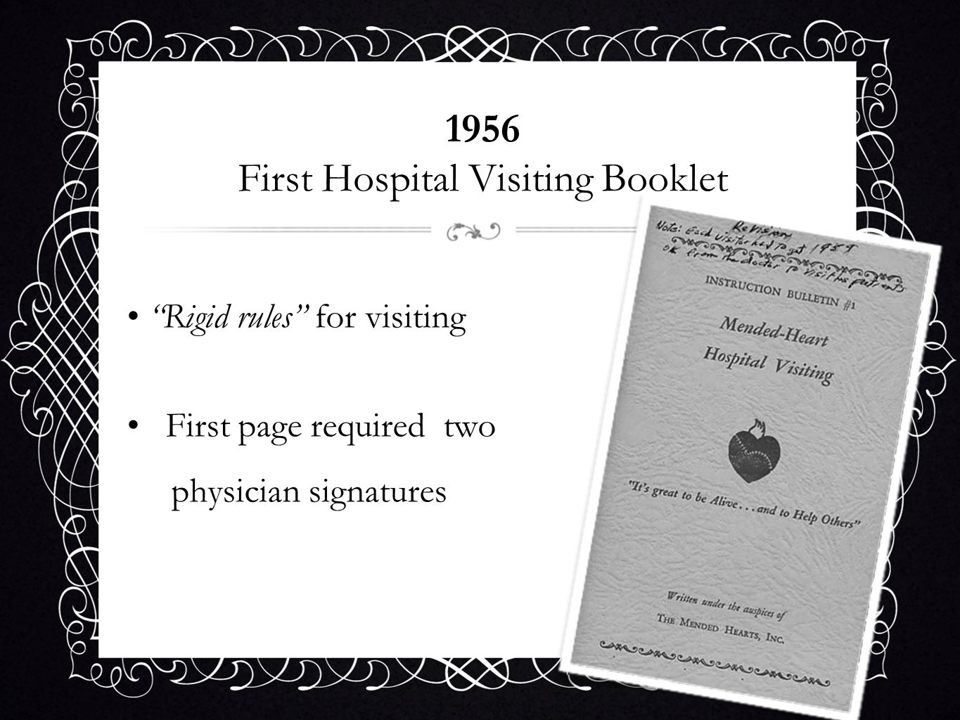1956 First Hospital Visiting Booklet