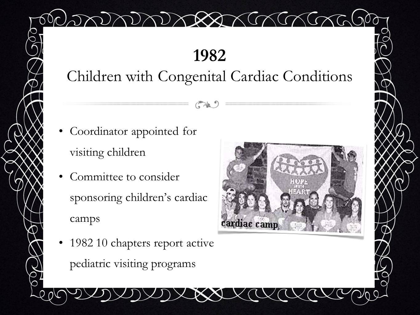 1982 Children with Congenital Cardiac Conditions