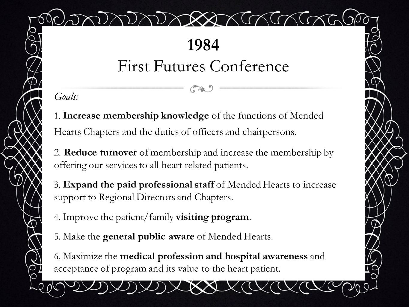 1984 First Futures Conference
