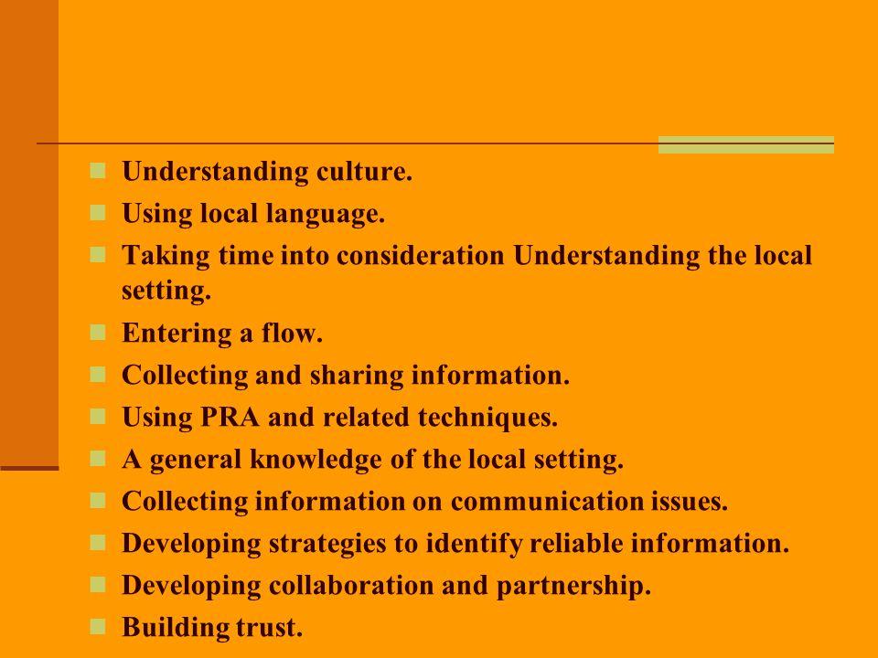 Understanding culture.