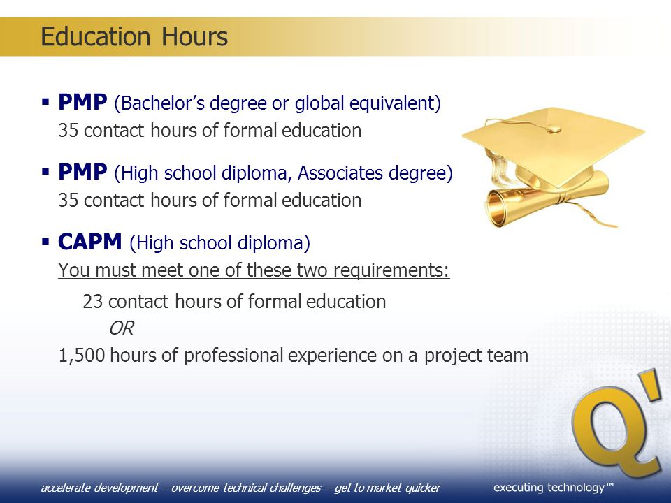 Education Hours PMP (Bachelor's degree or global equivalent)