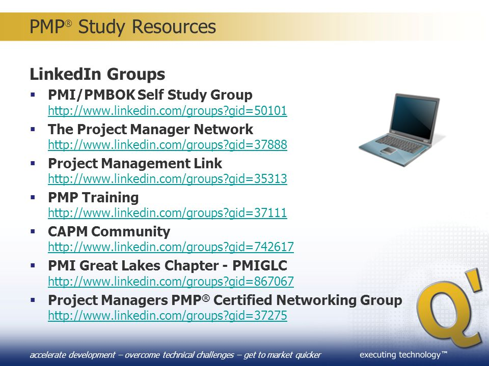 PMP® Study Resources LinkedIn Groups PMI/PMBOK Self Study Group