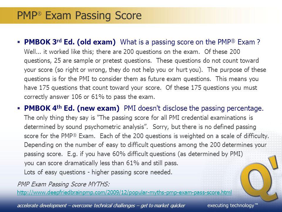 PMP® Exam Passing Score