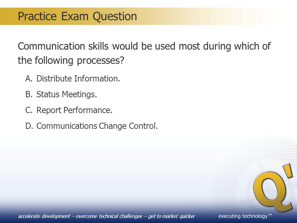 Practice Exam Question