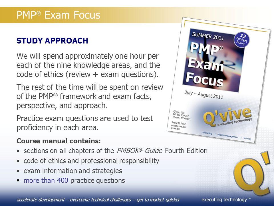 PMP® Exam Focus STUDY APPROACH