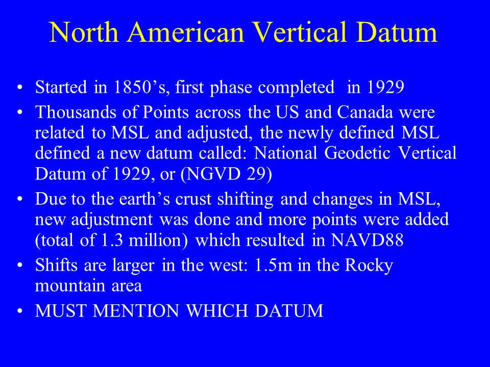 North American Vertical Datum