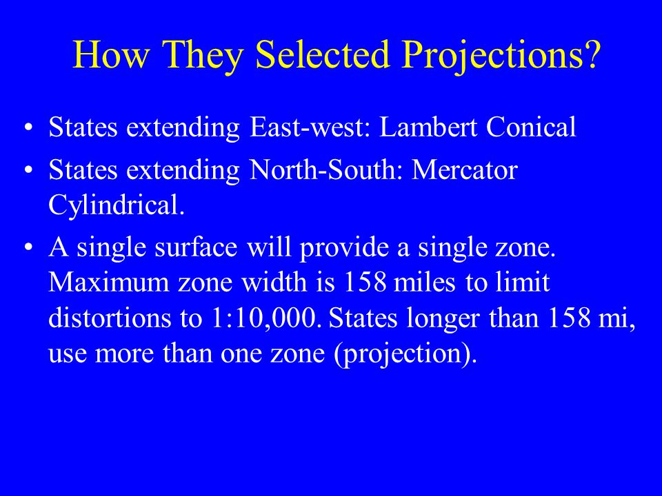 How They Selected Projections