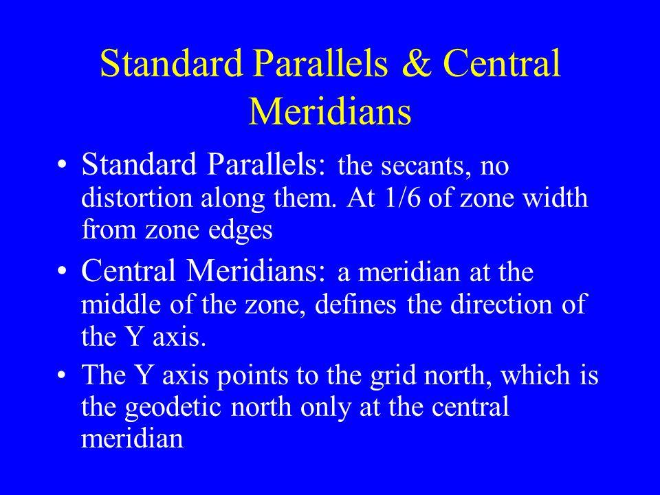 Standard Parallels & Central Meridians