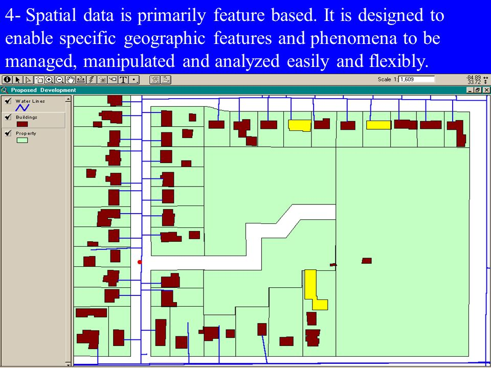 4- Spatial data is primarily feature based