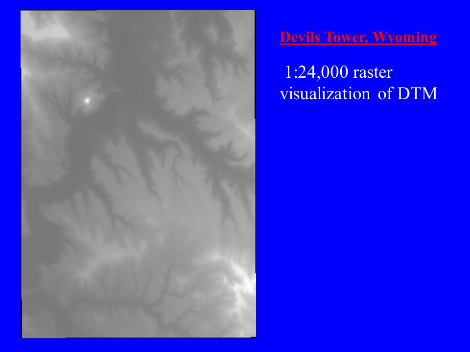 1:24,000 raster visualization of DTM