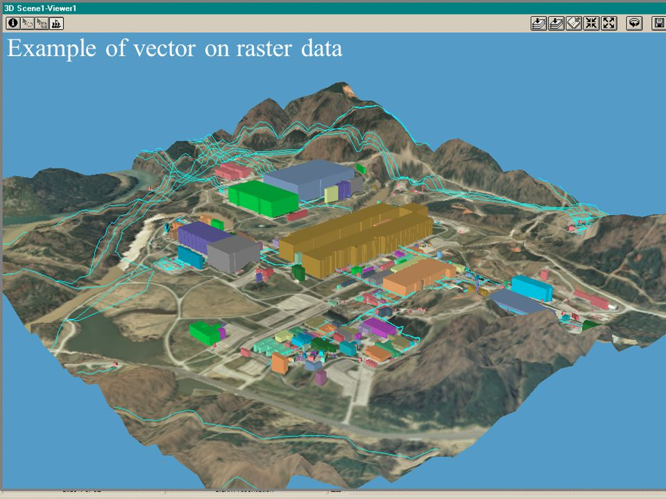 Example of vector on raster data