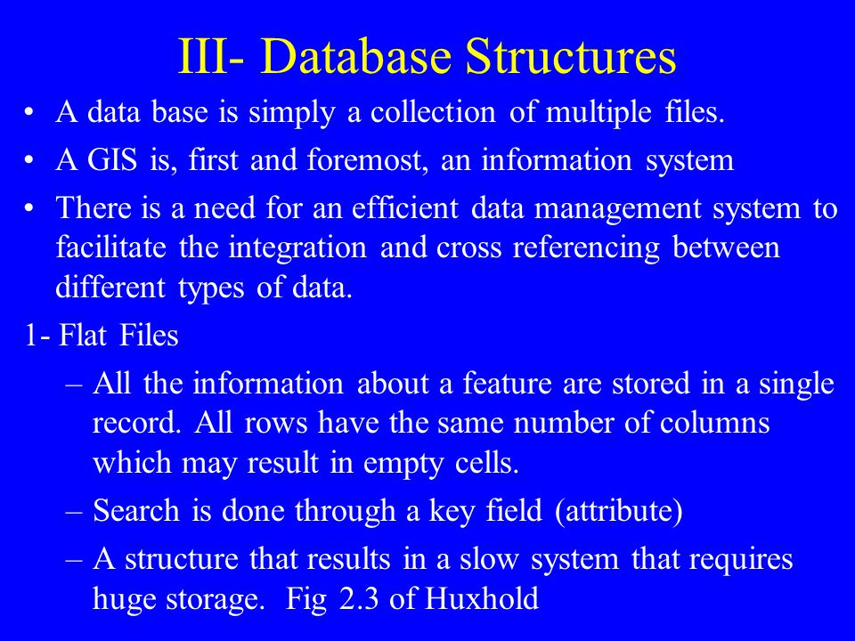 III- Database Structures
