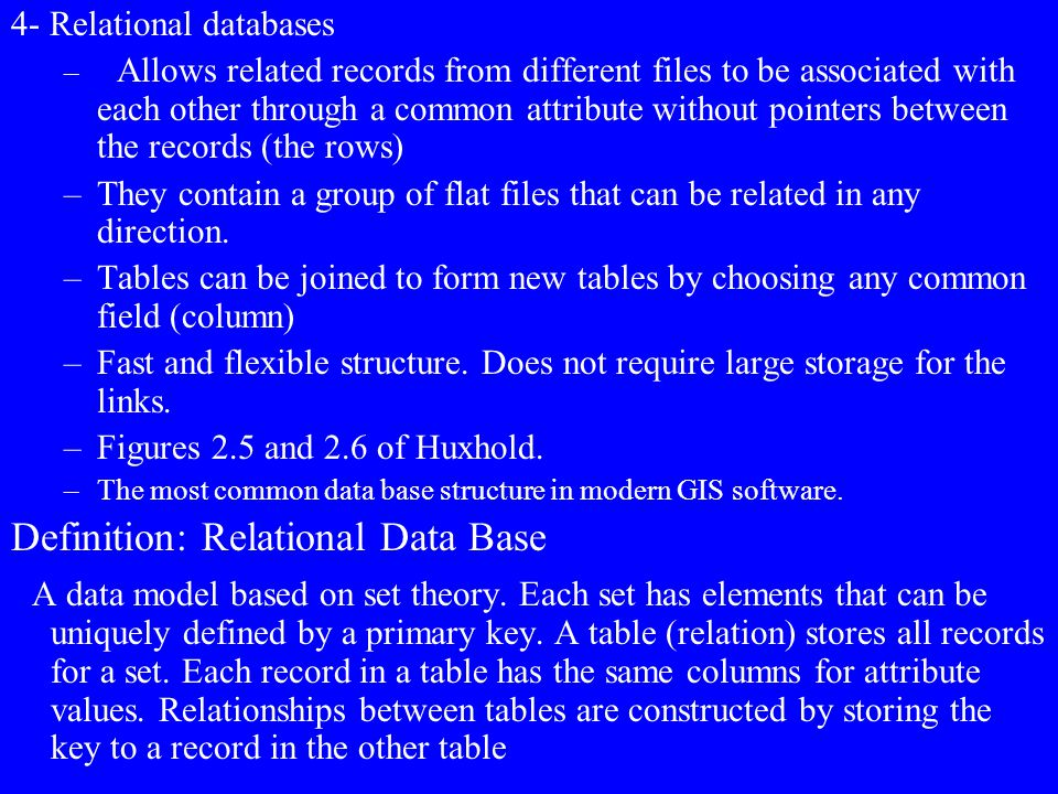 Definition: Relational Data Base
