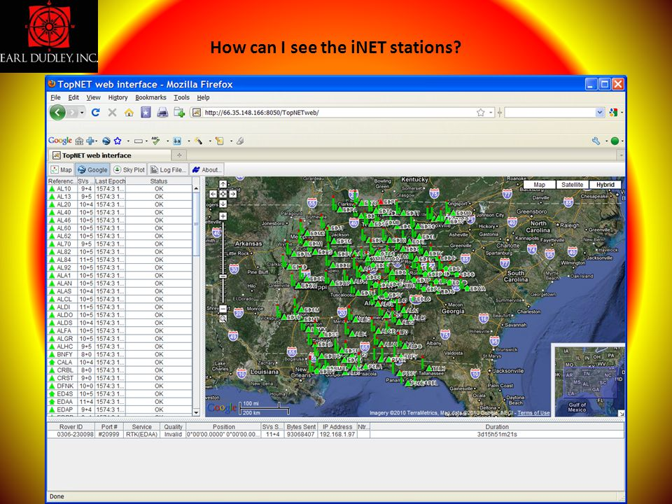 How can I see the iNET stations