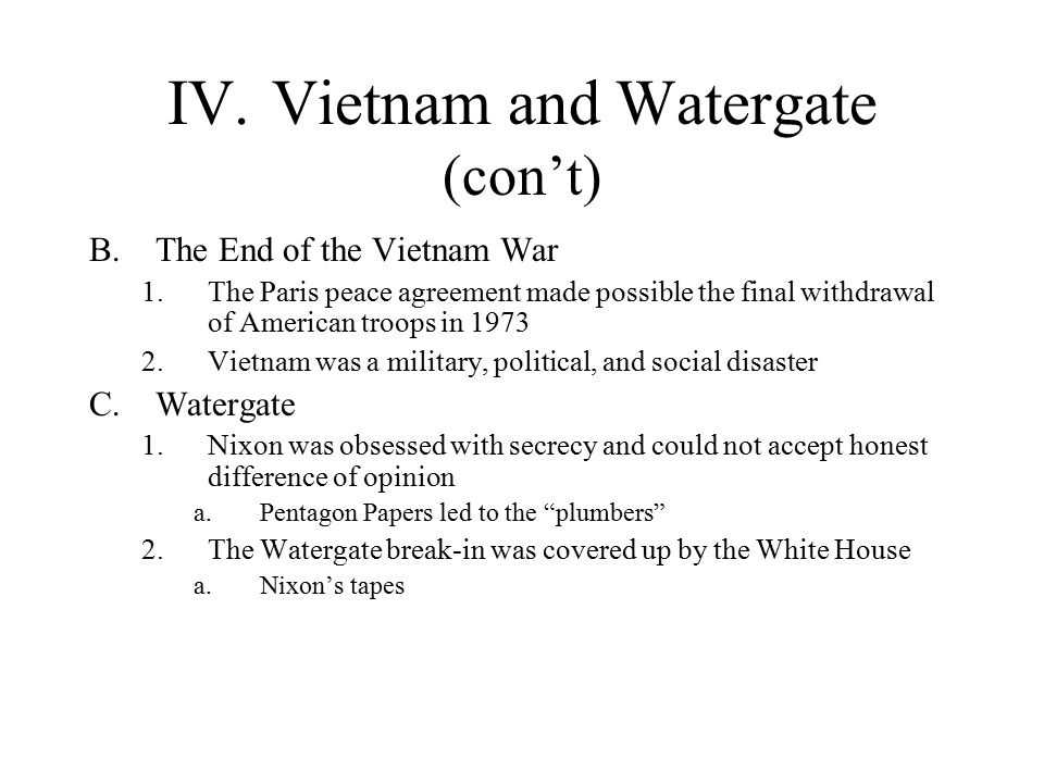 Research Paper on the Vietnam War