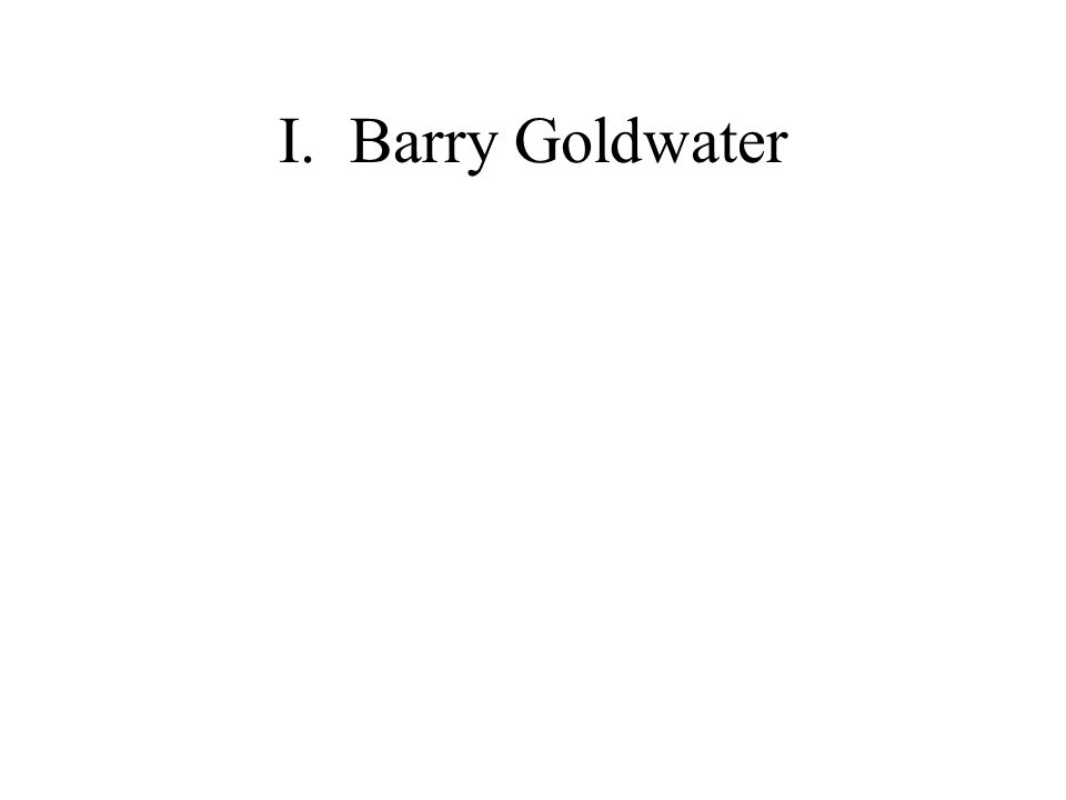 I. Barry Goldwater