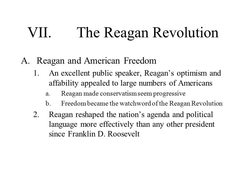 VII. The Reagan Revolution