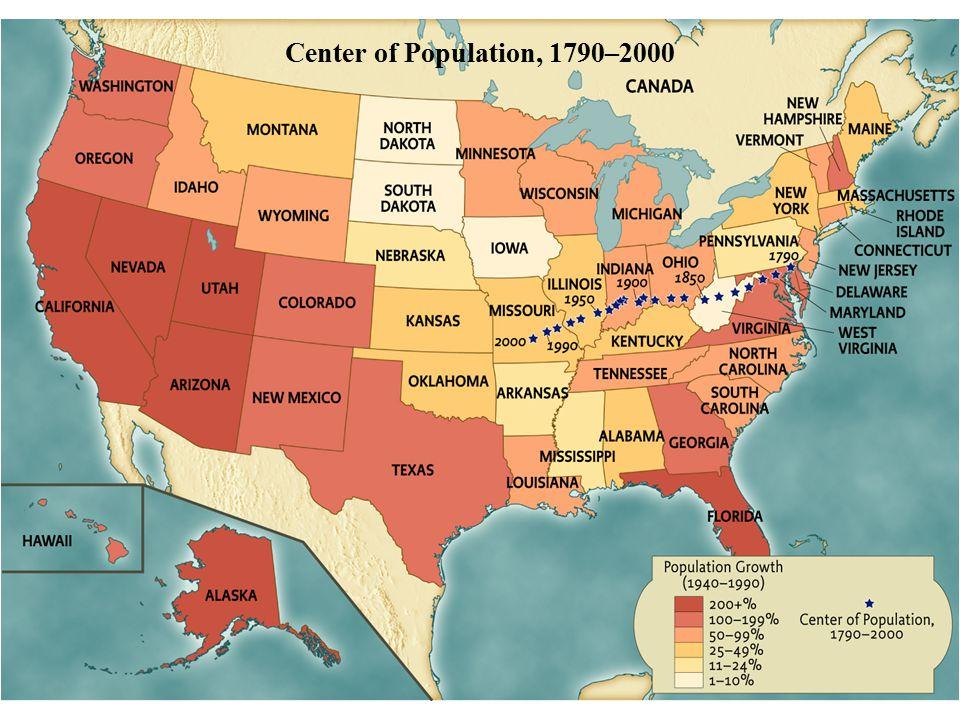 Center of Population, 1790–2000 • pg. 1025