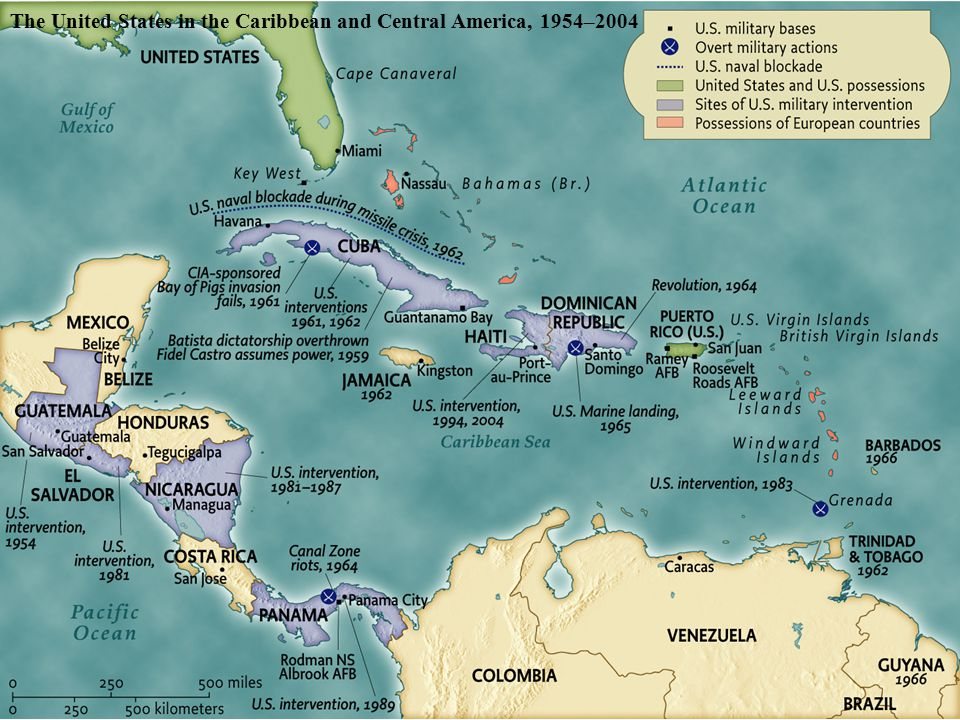 The United States in the Caribbean and Central America, 1954–2004