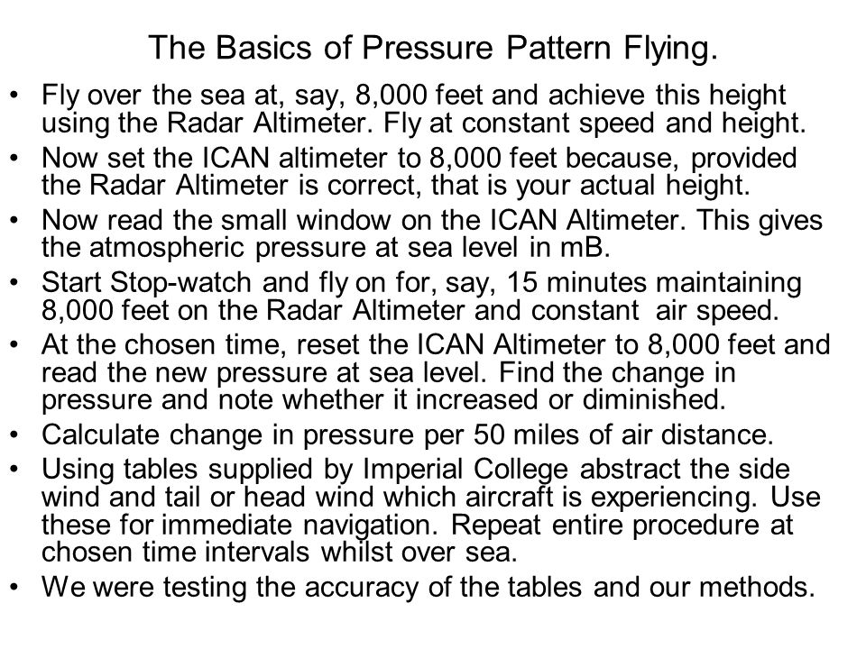 The Basics of Pressure Pattern Flying.