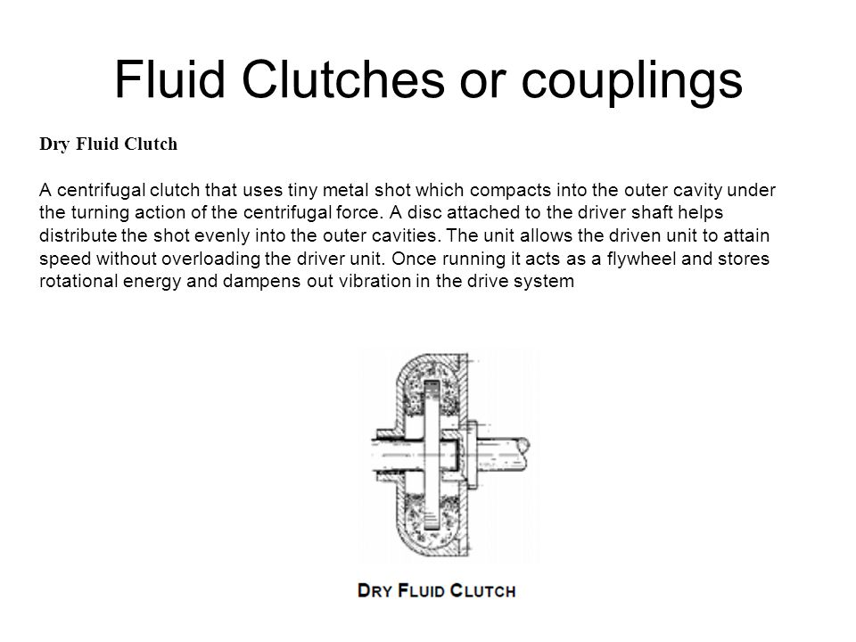Fluid Clutches or couplings
