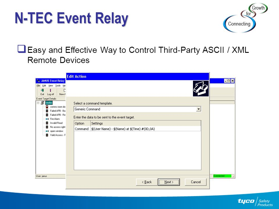 N-TEC Event Relay Easy and Effective Way to Control Third-Party ASCII / XML Remote Devices