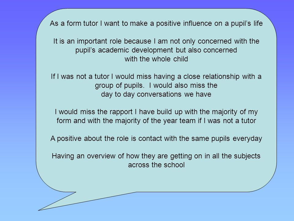 how to build positive relationships with pupils